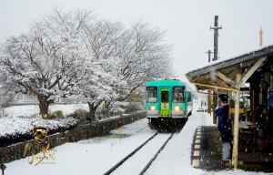 法華ホーム雪