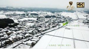 網引高度ドロン雪
